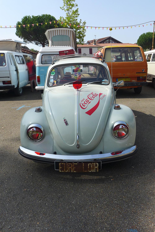 rassemblement voitures vintages Coccinelle volkswagen Coca-Cola à Clisson