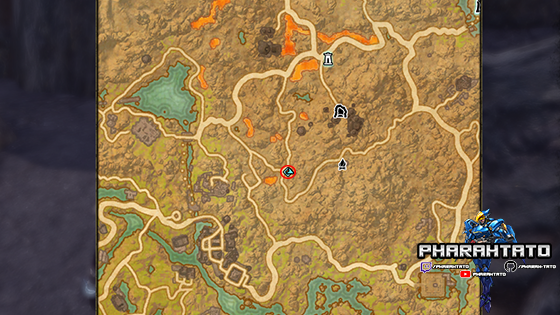 Vvardenfell CE Treasure Map 2 Location - Zoomed Out Map