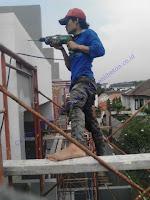 pekerjaan perbaikan beton yang mengalami bocor dengan metode injeksi
