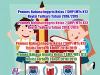Promes Bahasa Inggris Kelas 7 SMP/MTs K13 Revisi Terbaru Tahun 2018/2019