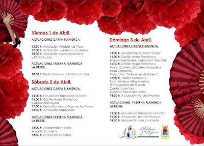 Programación de Flamenco de la XXII Feria Agroganadera de Los Palacios y Villafranca 2016