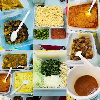 Jamuan Hari Raya Di Pejabat Dengan Laksa Johor Dan Rendang Ayam Cili Padi