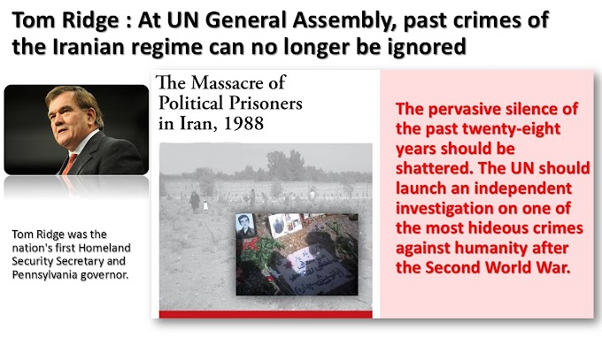 At UN General Assembly, past crimes of the Iranian regime can no longer be ignored