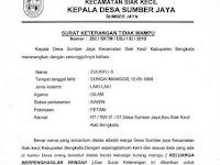 Contoh Surat Keterangan Tidak Mampu dari DESA / Ketua RW / Ketua RT