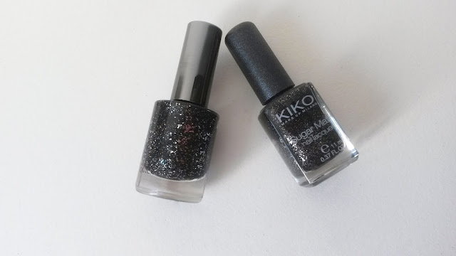 Vernis Gloss&Shock Power Biguine Precious black Sugar Mat Kiko starry back