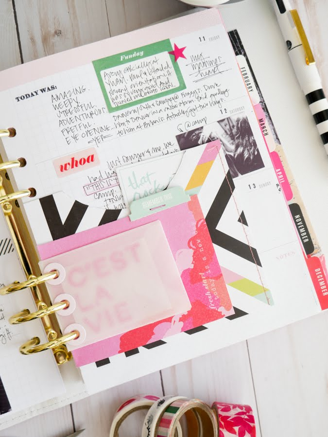 Reflecting on the Power of Planners |Using a Heidi Swapp Memory Planner to add reflection to our lives by Jamie Pate | @jamiepate