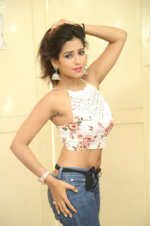 Deekshita Parvathi in a short crop top and Denim Jeans Spicy Pics Beautiful Actress Deekshita Parvathi January 2017 CelebxNext (237).JPG