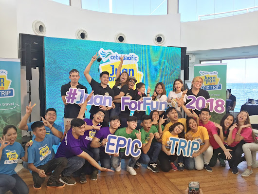 Young travelers off for an epic trip for Cebu Pacific's Juan For Fun 2018 - A Not So Secret Life