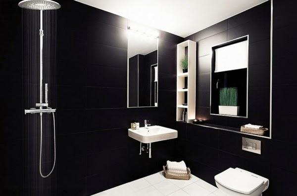 Bathroom Color Schemes Modern : Modern luxury bathroom designs black gray color schemes