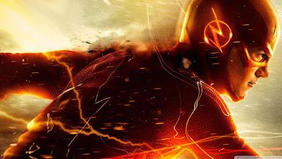 Grant Gustin como Flash en la serie The Flash de la cadena CW