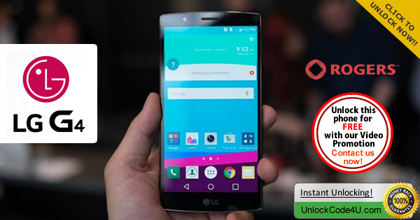 Factory Unlock Code LG G4 from Rogers