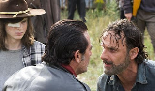 Como será 8º temporada The Walking Dead - foto de Negan, Rick e Carl