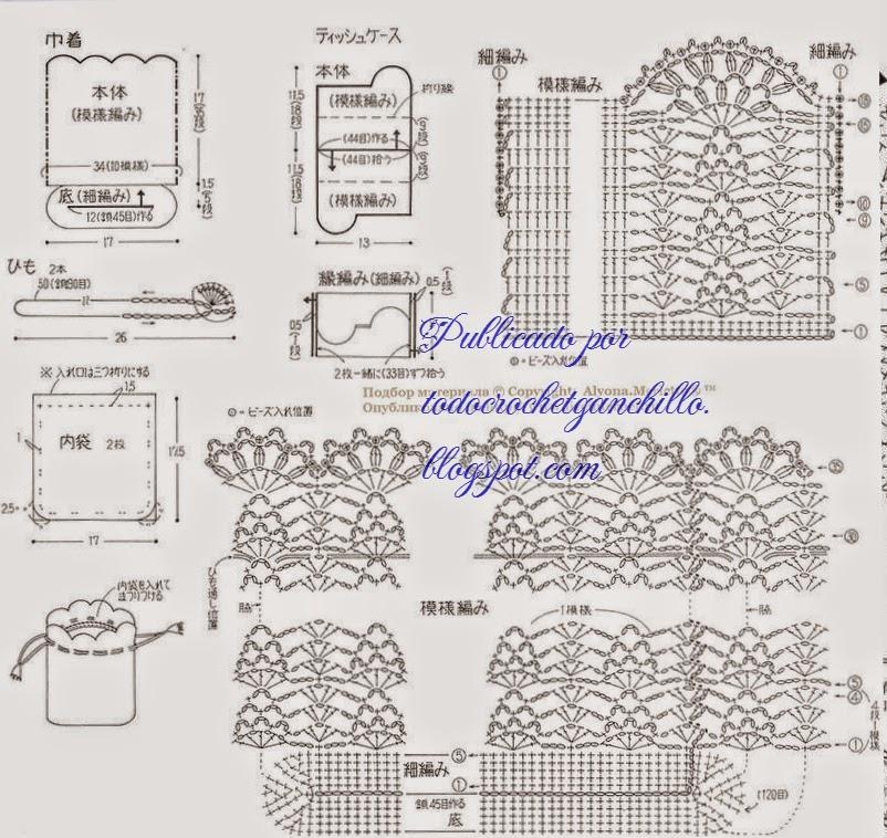 Bolso y portacosméticos super delicados | Todo crochet