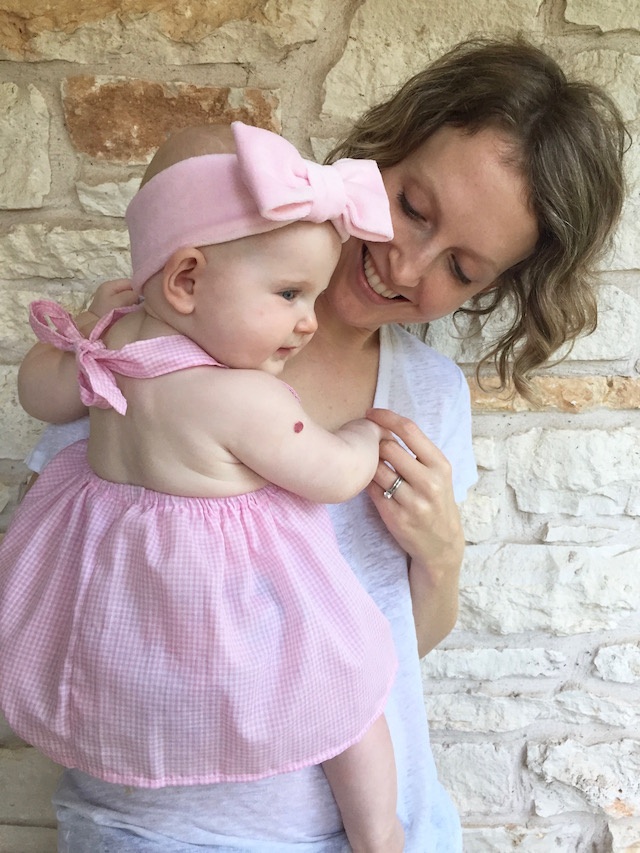 Love Factory New York, Baby outfit, baby dress, handmade baby outfit, twin style, baby bow, baby headband, baby halter dress, baby girl fashion, baby girl style