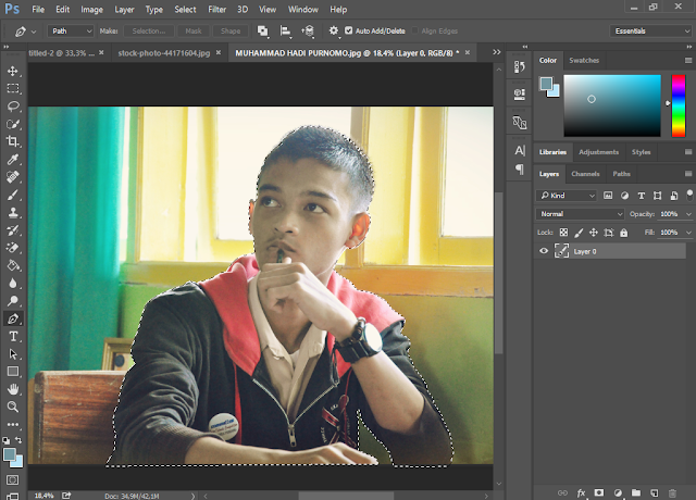 Membuat Foto Seperti Poster Hope Obama di Photoshop CS6/CC2015