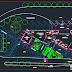 مشروع موقف حافلات بشكل جميل اوتوكاد dwg