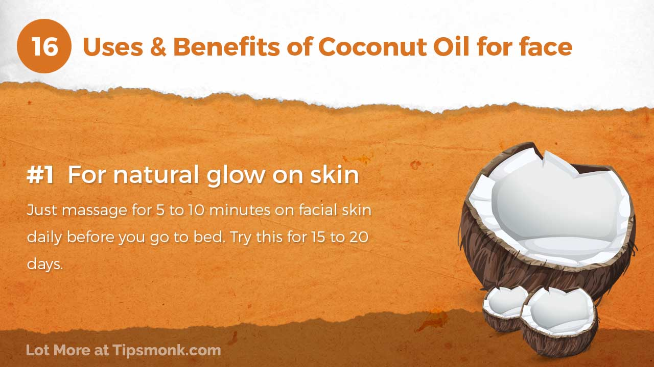 Coconut Oil for face - Uses & benefits for skin - Tipsmonk