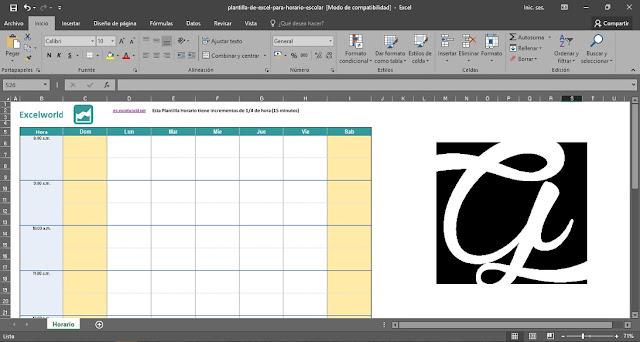 Formatos de horario de clases gratis 2018 para imprimir (Excel, Word