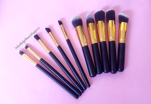 Amazon.in Affordable 10 piece Kabuki Makeup Brush Set Available In India