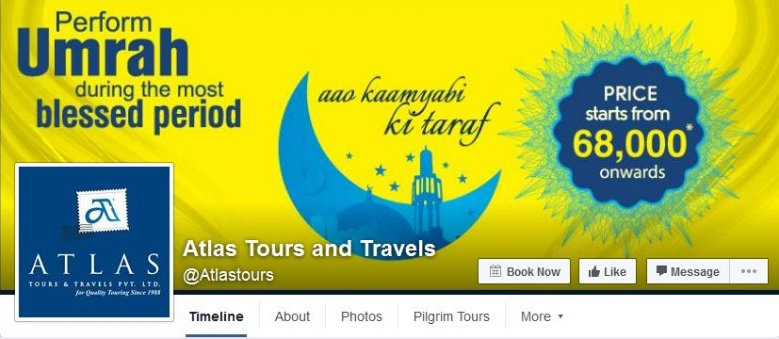 Atlas Tours and Travels' facebook cover