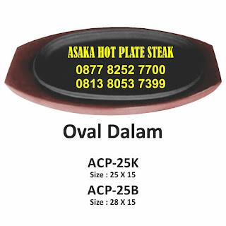 Hot plate ACP - 25 B  , ACP - 25 B ( Hot plate oval besar cekung), hotplate oval, jual hot plate oval,produksi hot plate, hot plate ,grosir hot plate steak,hot plate oval  besar, hot plate oval kecil