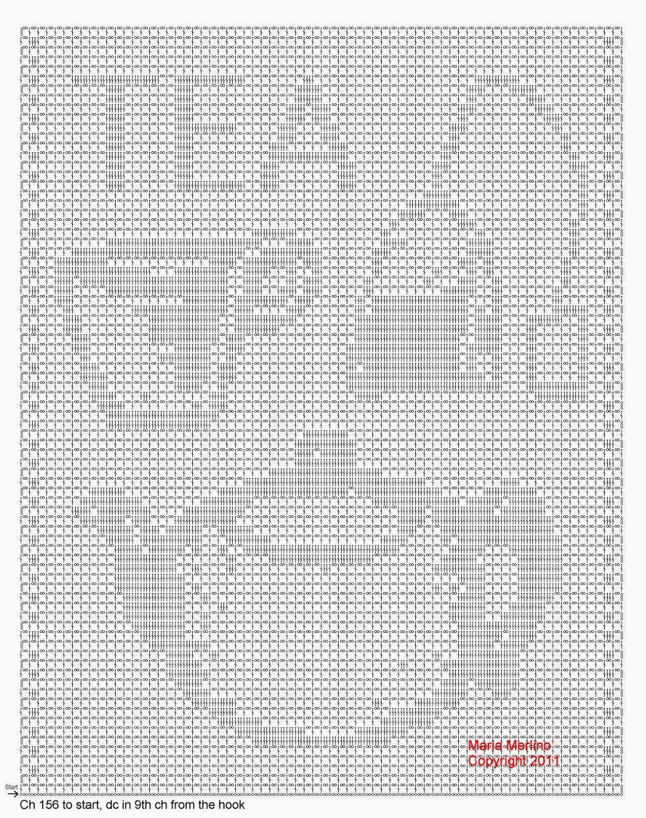 Filet Crochet Filet Crochet A Tea Pot Curtain Free Pattern