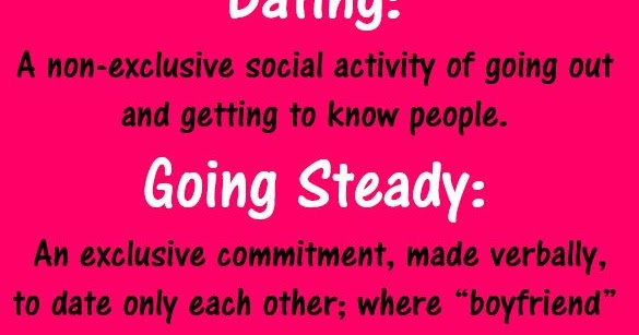 Difference between dating and going steady