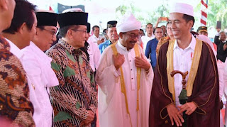 Presiden Jokowi di Barus