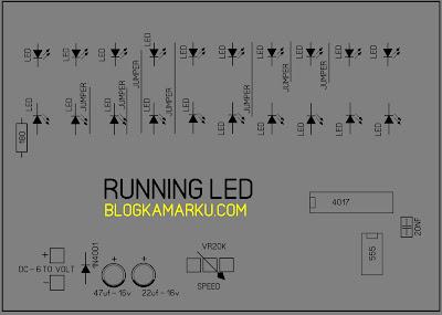 Cara membuat Running LED Yang Bisa di atur
