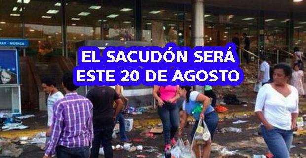 El Sacudón de este 20 de agosto comenzará en Guarenas