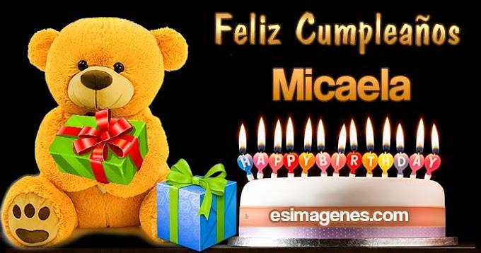 Feliz Cumpleaños Micaela