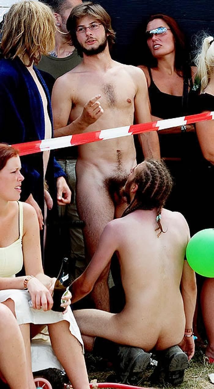 Naked men screwing