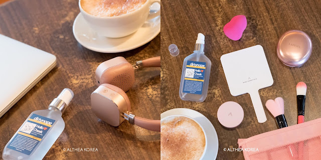 cosmetics, k-beauty, table, headphones, mirror, makeup, everyday use, cleanliness, essential oil, natural, puff, antibacterial
