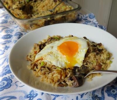 Baked Mushroom Rice