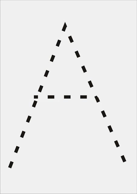 Vogais Pontilhadas - Letra A
