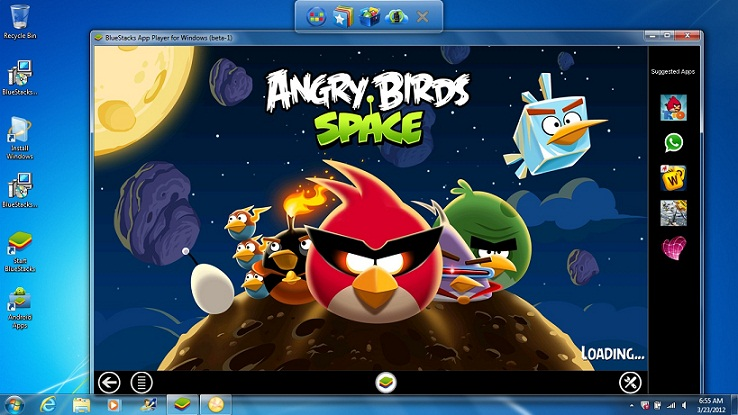 game BlueStacks Angry Birds Space