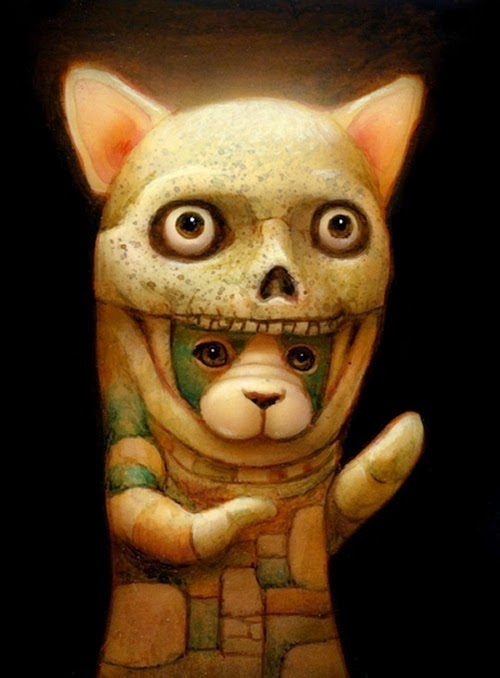 03-Boo-Naoto-Hattori-Dream-or-Nightmare-Surreal-Paintings-www-designstack-co