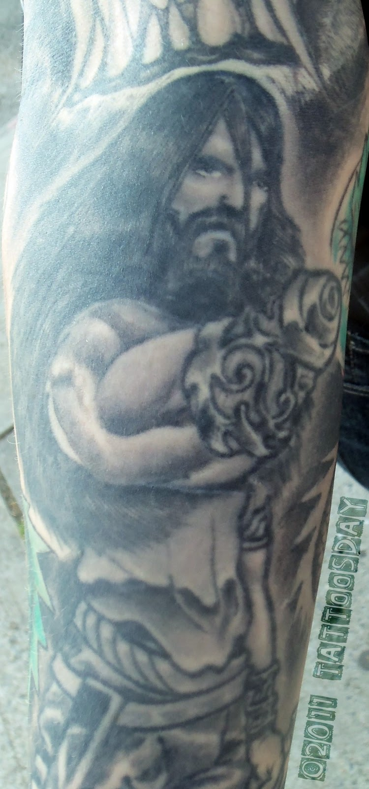 Fenris Wolf Tattoo