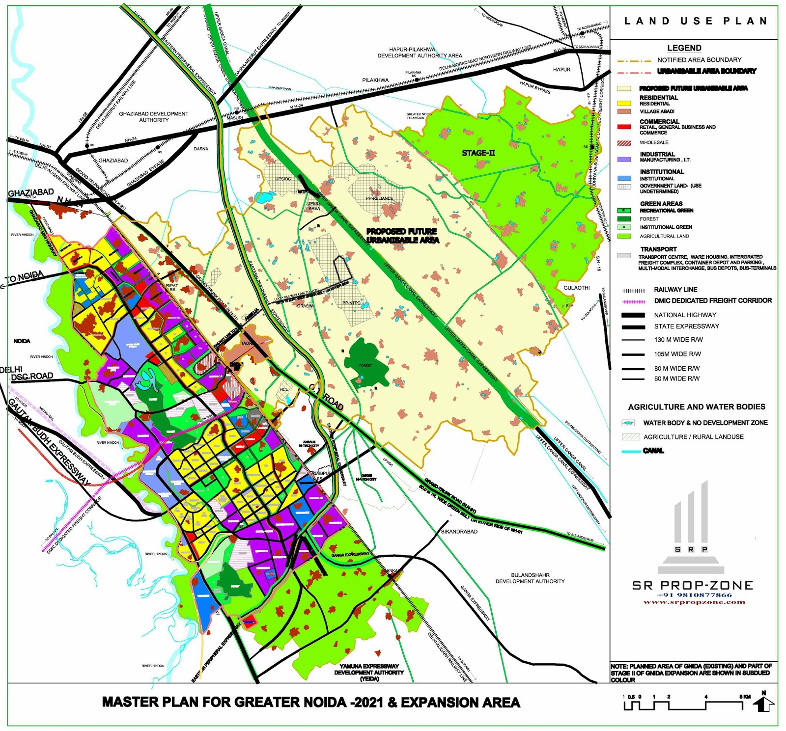 Noida Extension Map Greater Noida Extension Master Plan HD Quality Map