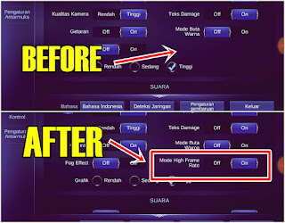 Cara Mengaktifkan Mode High Frame Rate Mobile Legends