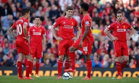 Liverpool thất bại ở mùa giải 2014/15