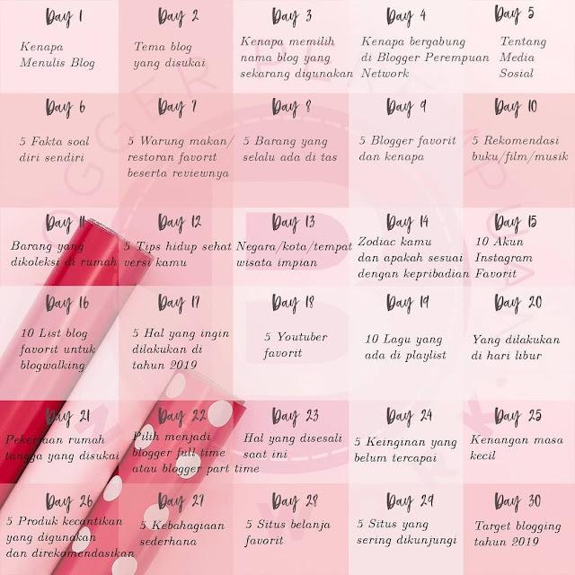 BPN 30 DAYS BLOG CHALLENGE Prompt List