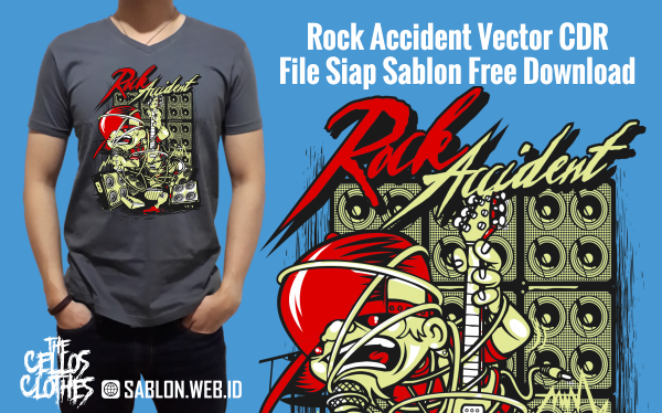 Rock Accident Vector CDR File Siap Sablon Free Download