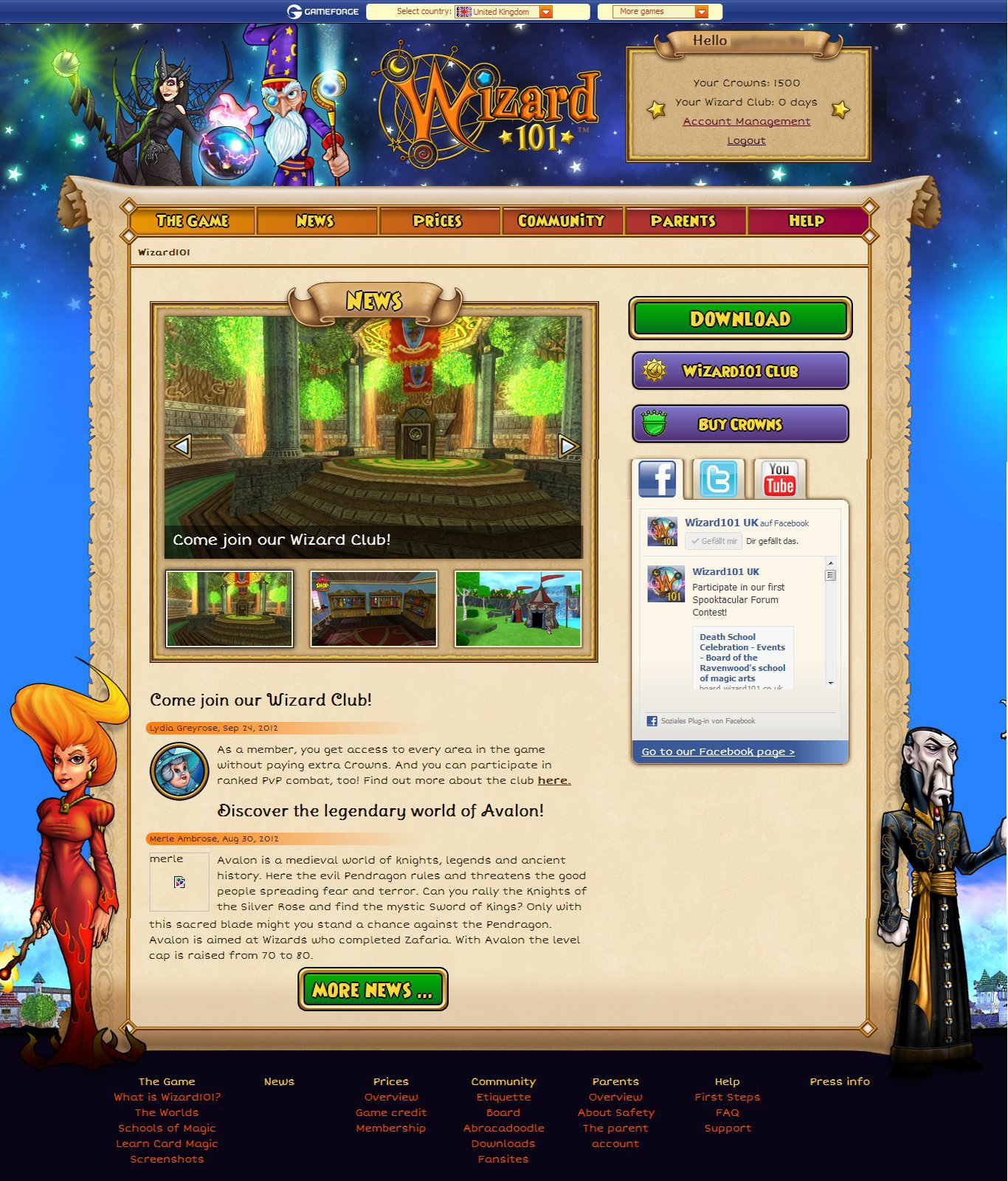 Wizard101 UK Update & Blog Update | Tales of the Spiral