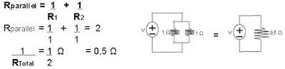 contoh soal dan gambar rangkaian resistor parallel