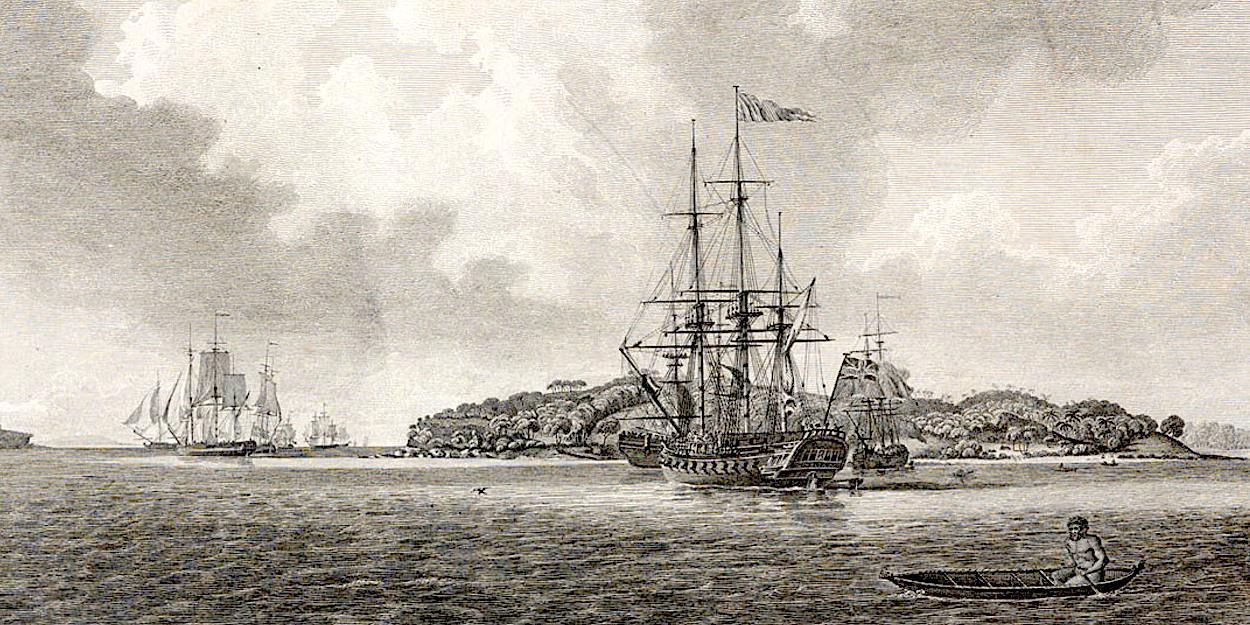 Convicts arrive at Botany Bay