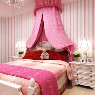 Habitación rosa para niña