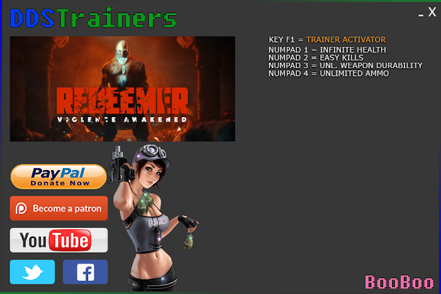 Redeemer Trainers and Cheats for PC