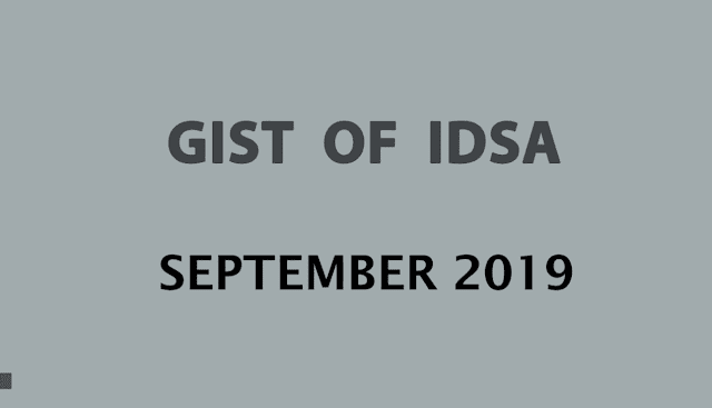 GIST of IDSA September 2019