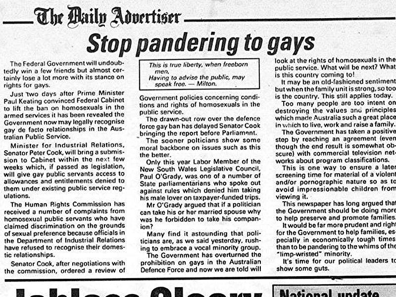 Gay articles